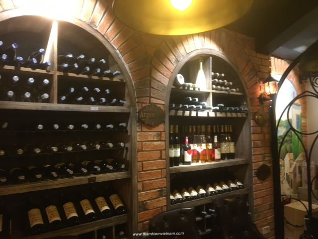 There is many bars with imported wines in city