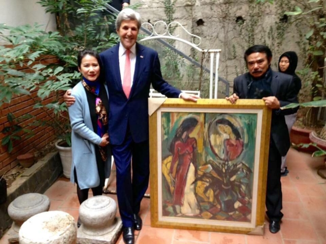 The art work John Kerry collected from Pham Luc home