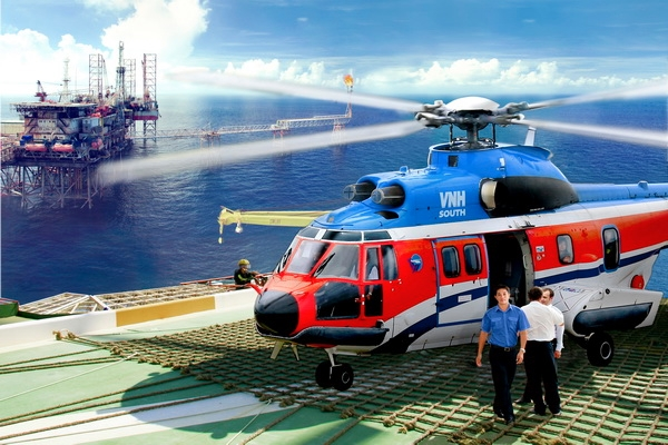 Super Puma AS 332L2 Helicopter charter with VPT
