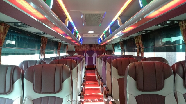 Vietnampathfinder car rental 45seats bus-cabin