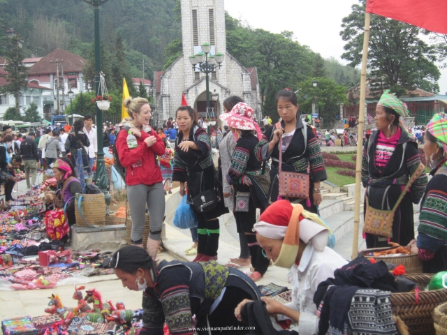 Sapa Market and Town Centre where the Black Hmong ethnic come to trade