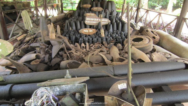 Bombs with all types was used (by US army and Saigon) during war year at Cu Chi battle field