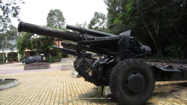 US artillery was used at Cu Chi